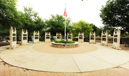 Memorial Courtyard, Pacific War Museum San Antonio
